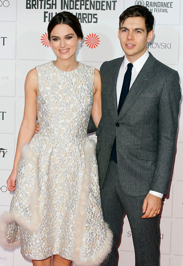 Keira Knightley and James Righton attend Moet British Independent Film Awards in London, 7 December 2014