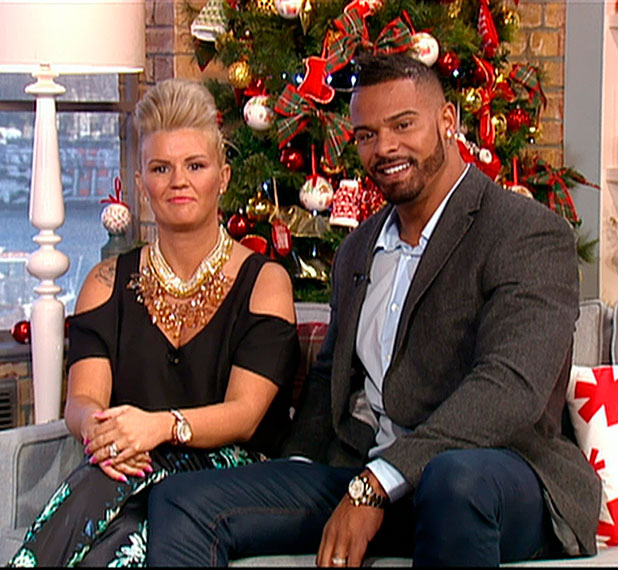 Kerry Katona and her husband George Kay appearing on This Morning, 10 December 2014