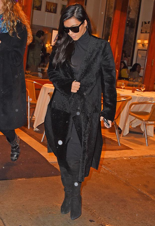 Kim Kardashian is seen on December 6, 2014 in New York City.