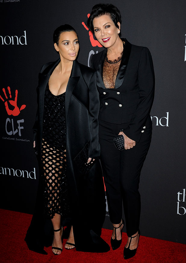Kim Kardashian and Kris Jenner attend Rihanna and The Clara Lionel Foundation Presents The Inaugural Diamond Ball, 11 December 2014