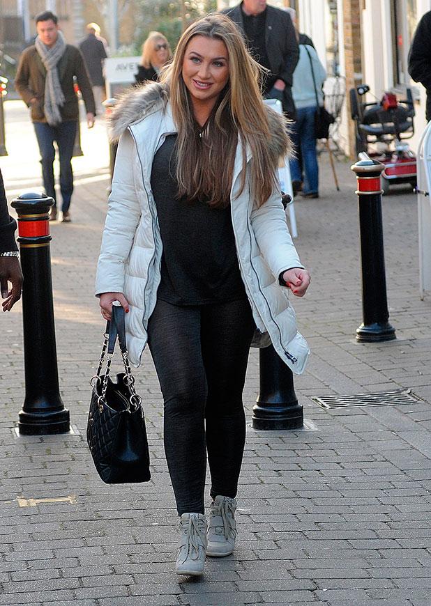 Lauren Goodger out in Essex, 10 December 2014