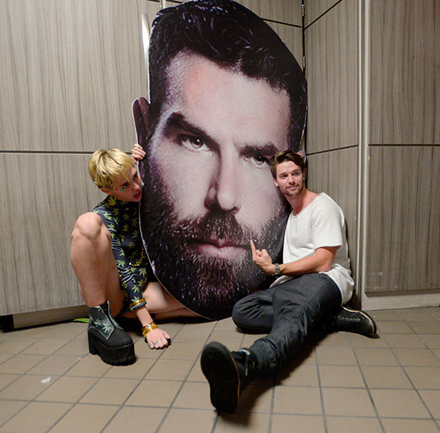 Liv at Fontainebleau, Miami Beach, Florida, America - 05 Dec 2014 Miley Cyrus, Patrick Schwarzenegger