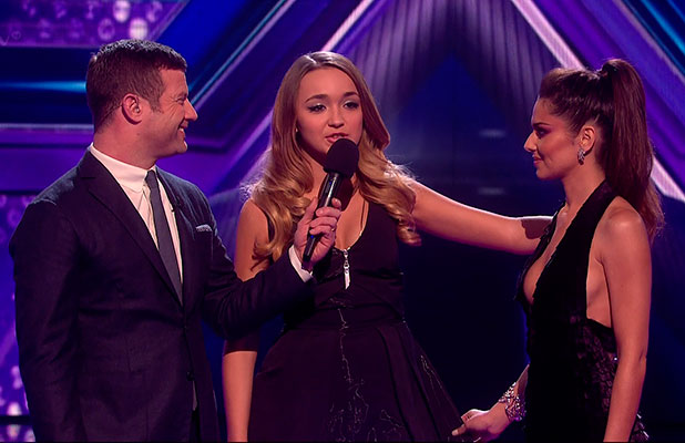 Lauren Platt is sent home after the judges vote on 'The X Factor - The Results', Shown on ITV1 HD, 6 December 2014