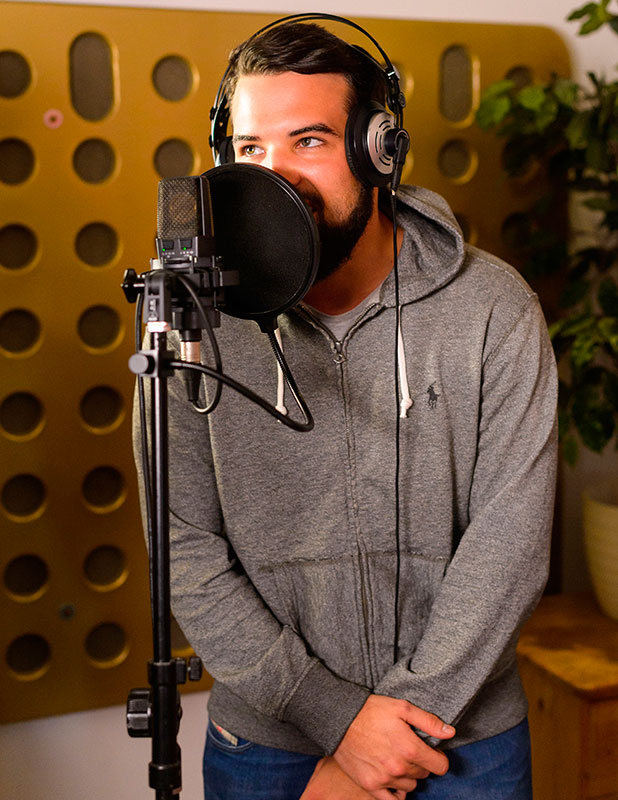 Ricky Rayment lays down vocals for his new single while Mario Falcone supports him, 'The Only Way is Essex' cast filming, 'All Star' Recording Studio, Chelmsford, Britain - 25 Nov 2014