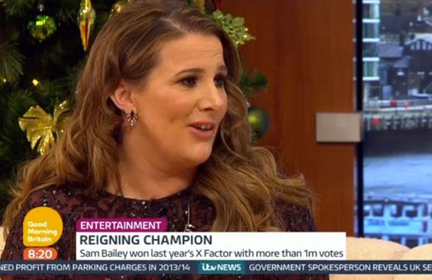 X Factor: Sam Bailey appears on Good Morning Britain, ITV, London, 12 December 2014