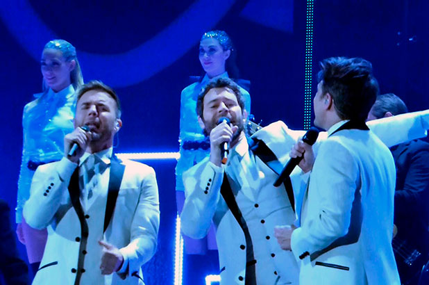 Take That perform at BBC Music Awards held at the Earls Court Exhibition Centre, 11 December 2014