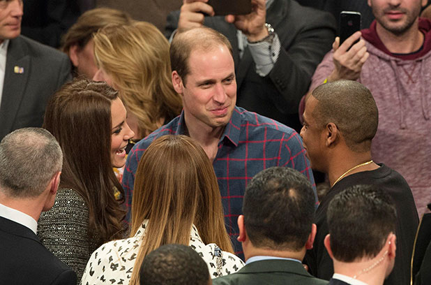 Catherine Duchess of Cambridge, Beyonce Knowles, Prince William and Jay-Z 8 Dec 2014