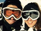 Peter Andre and fiancée Emily MacDonagh all smiles during ski trip