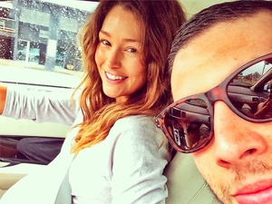 Example, aka Elliot Gleave, and his wife Erin McNaught become parents