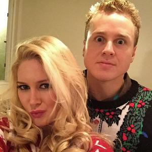 Heidi Montag and Spencer Pratt strike a pose at Christmas party, 14 December 2014