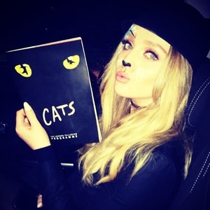 Perrie Edwards at Cats the musical 16 December