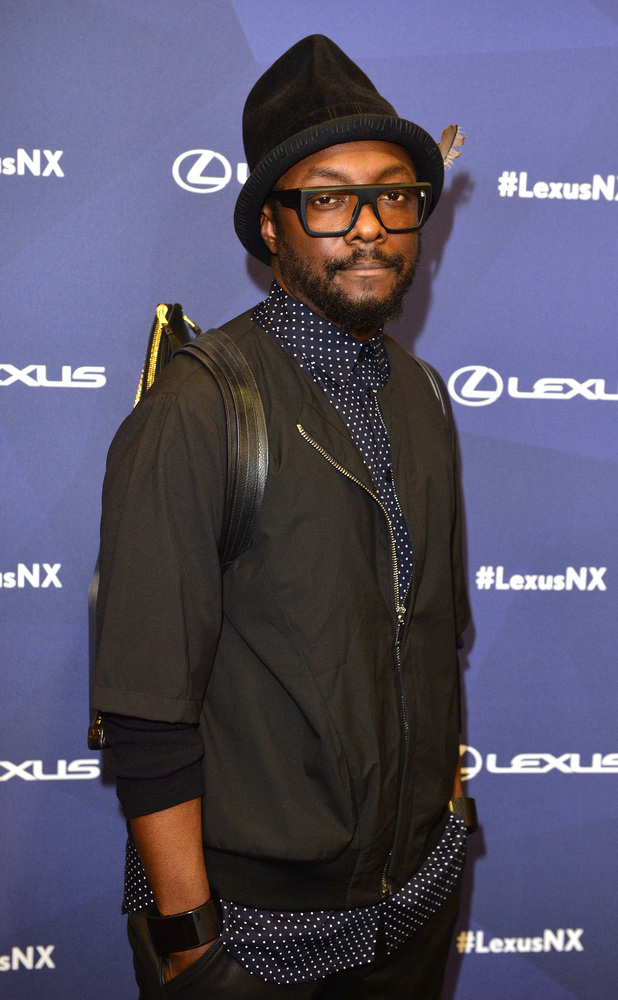 Will.i.am unveiles his very own custom designed Lexus NX at an exclusive 'Striking Angles' launch party in Paris 24/09/14