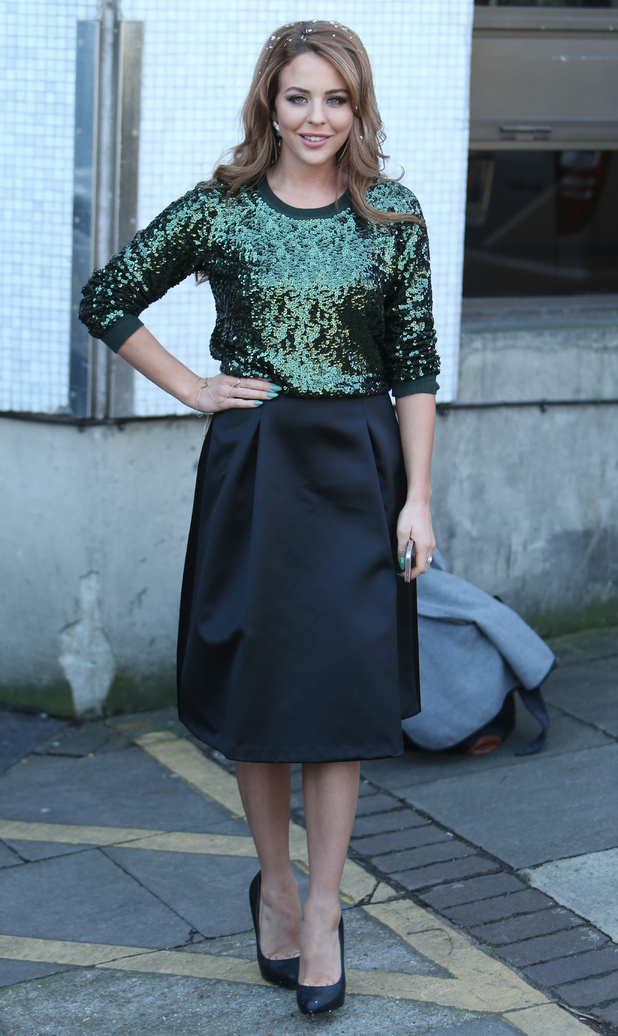 Lydia Bright leaves the ITV Studios in London, England - 19 December 2014