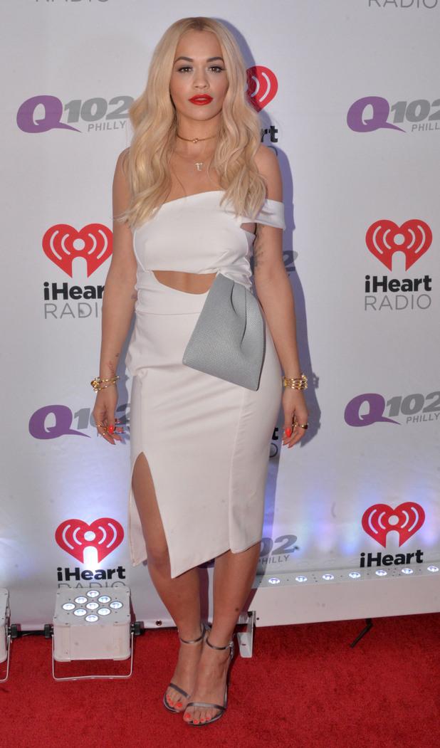Rita Ora at Q102's Jingle Ball 2014 presented by Bernie Robins Jeweler at Wells Fargo