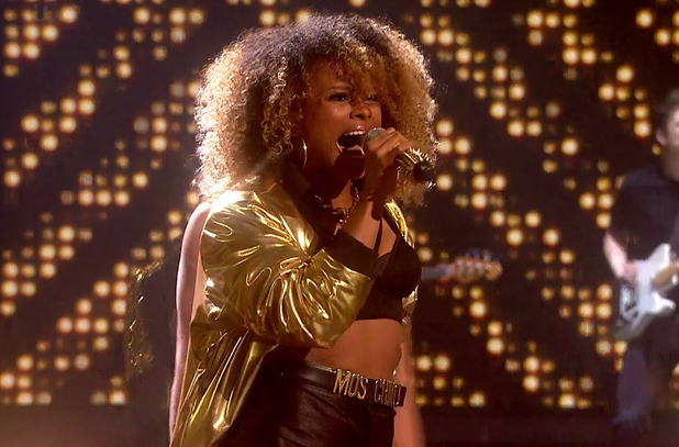 Fleur East performs 'Uptown Funk' during X Factor semi-finals - 6/12/2014.
