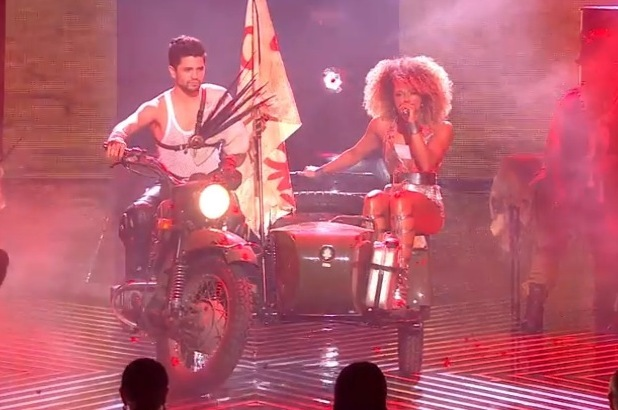 Fleur East performs during The X Factor final at Wembley Arena - 13 December 2014