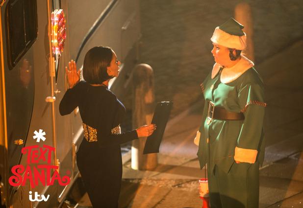 Text Santa - Mel B makes cameo appearance on Coronation Street.