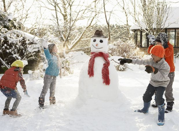 Forty per cent of kids have never built a snowman
