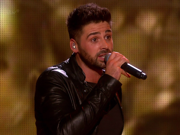 X Factor winner Ben Haenow performing the winner's song 'Something I Need' after he was named the winner of The X Factor 2014 on the final of 'The X Factor' - 14/12/2014.