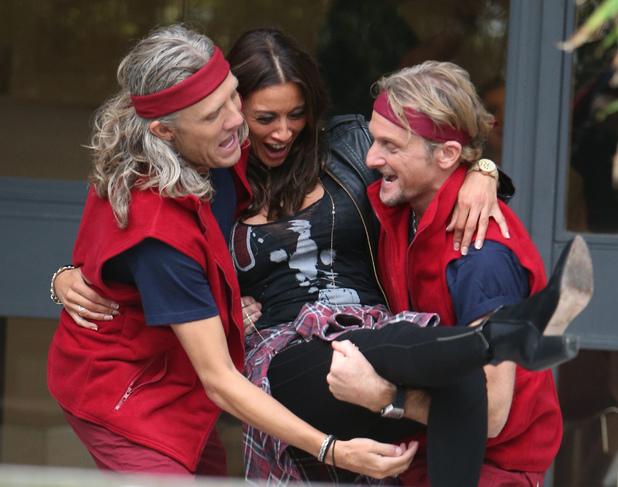 Melanie Sykes, Jimmy Bullard, Carl Fogarty outside ITV Studios 18 December