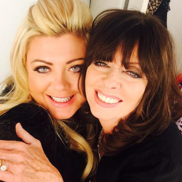 TOWIE's Gemma Collins reunites with former I'm A Celebrity... Get Me Out Of Here! star Vicki Michelle after appearing on Chatty Man - 15 December 2014.