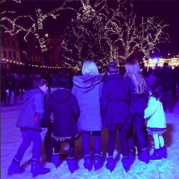 TOWIE's Lydia Bright goes ice skating with new foster sister and rest of family, 19 December 2014