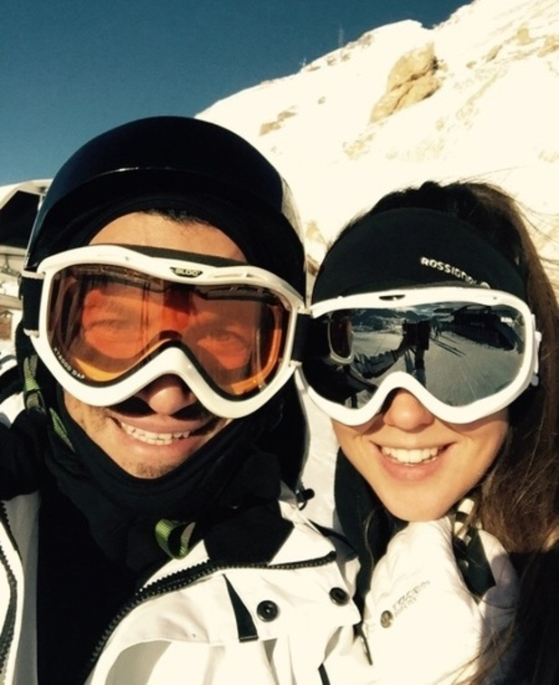 Peter Andre and Emily MacDonagh go skiing - 19 Dec 2014
