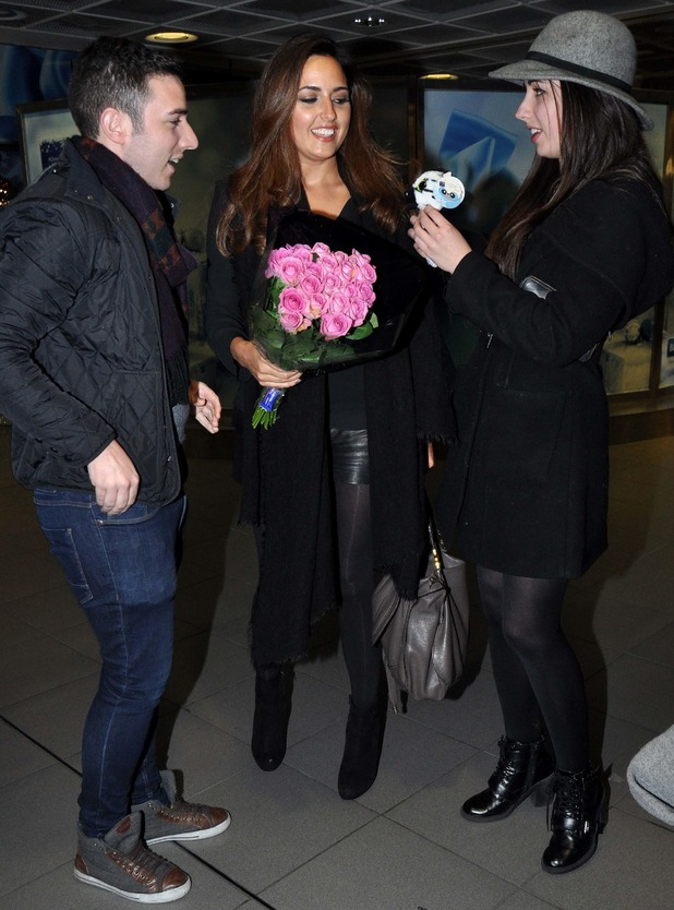 I'm a Celebrity...Get Me Out of Here star Nadia Forde returns home to Dublin - 17 Dec 2014