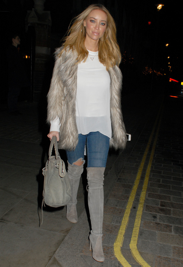 Lauren Pope heads to Chiltern Firehouse in London, England - 14 December 2014