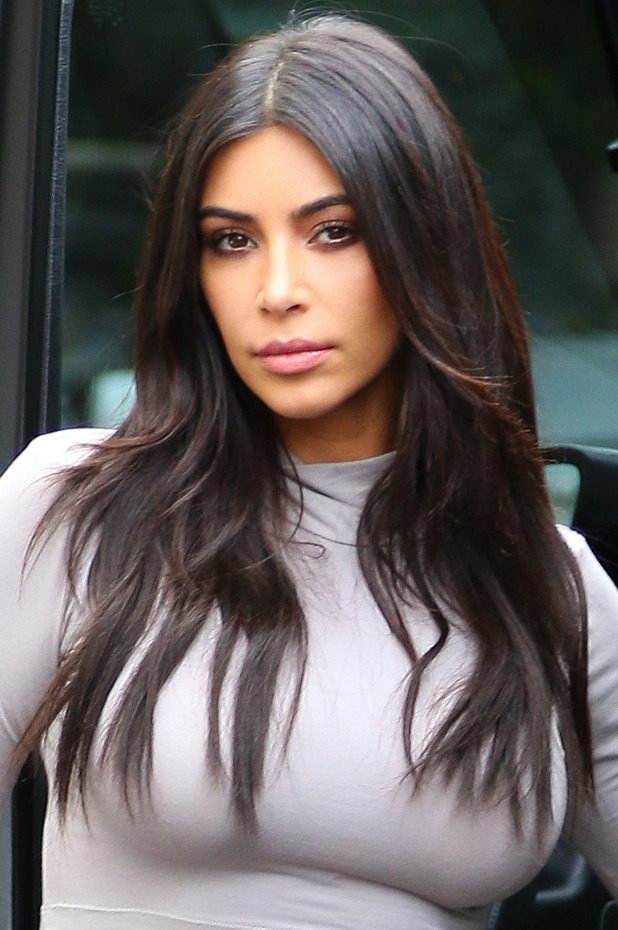 Kim Kardashian spotted out in Beverly Hills filming the upcoming 10th season of 'Keeping Up With The Kardashians', 19 December 2014