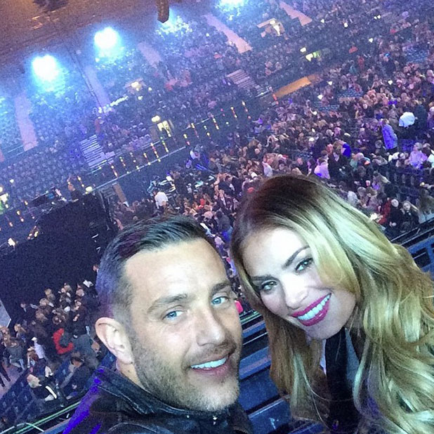 TOWIE's Elliott Wright and Chloe Sims attend X Factor 2014 finale, 13 December 2014
