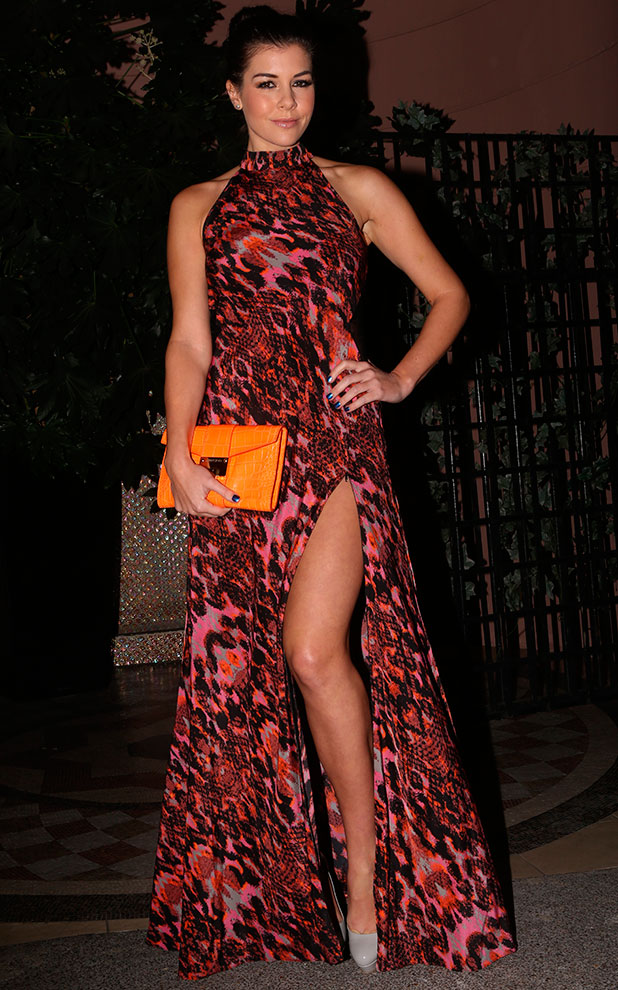 Imogen Thomas at The Kensington Christmas Party held at Bombay Brasserie, 16 December 2014