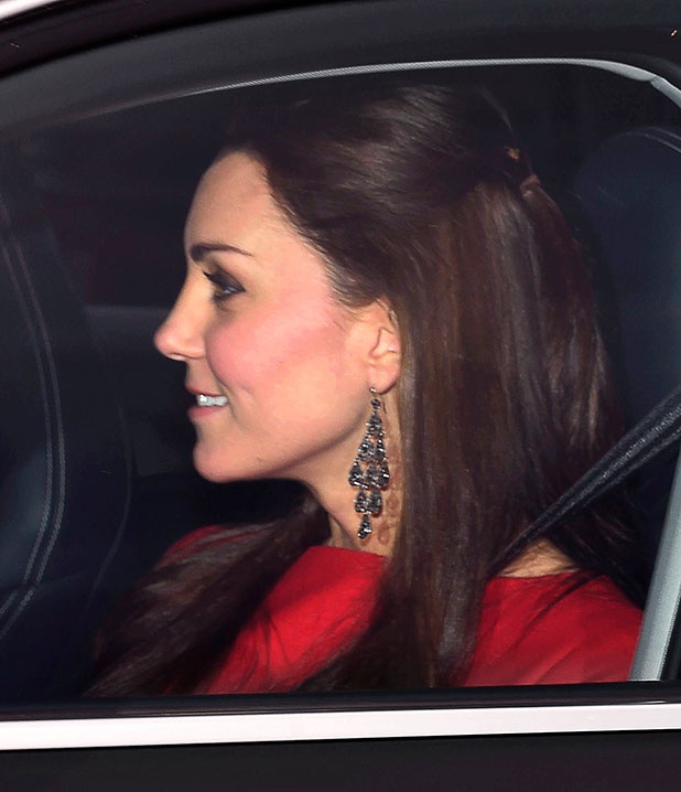 Royal family Christmas lunch, Buckingham Palace, London, Britain - 17 Dec 2014 Prince William and Catherine Duchess of Cambridge