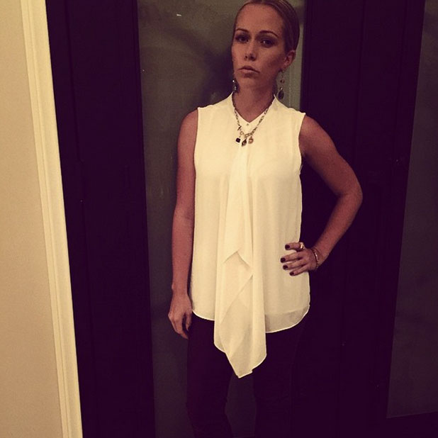 Kendra Wilkinson getting ready for a Christmas party, 14 December 2014