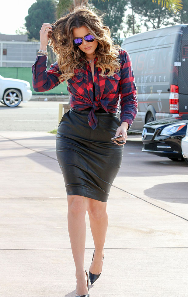 Khloe Kardashian is seen in Los Angeles on December 15, 2014 in Los Angeles, California.