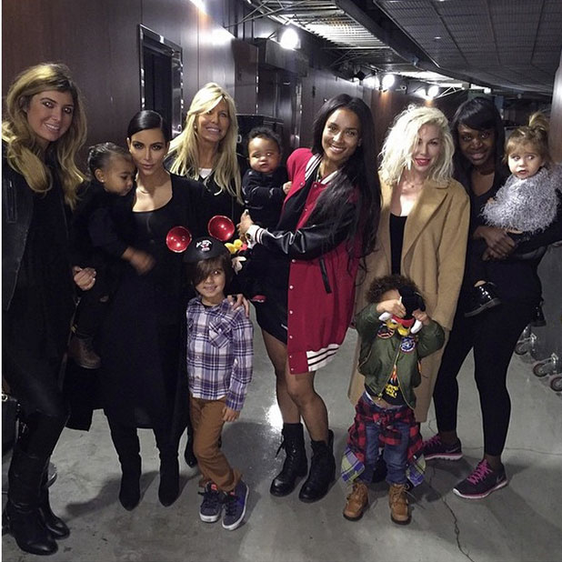 Kim Kardashian takes North to Disney on Ice with Mason, Penelope and friends, 14 December 2014