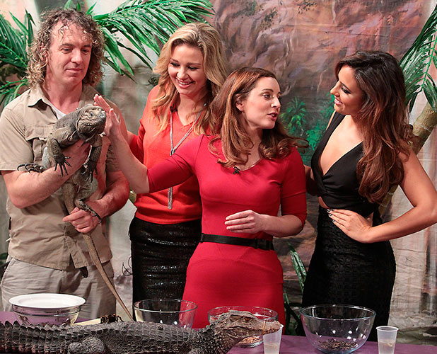 Nadia Forde at Tv3 studios in Dublin, where she appeared on Tv3s Ireland Am breakfast show and did a bushtucker trial, 18 December 2014