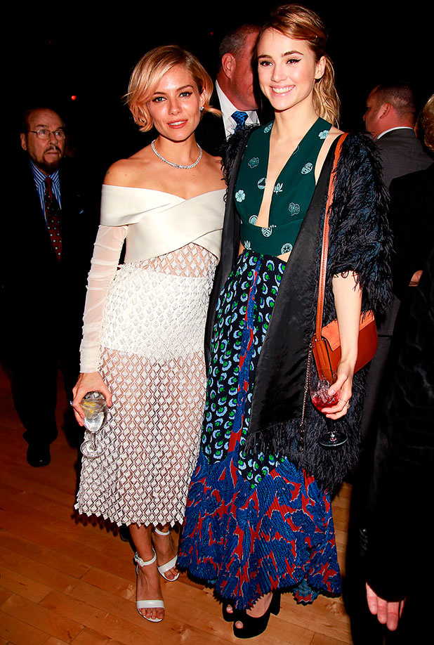 Suki Waterhouse and Sienna Miller at American Sniper's New York premiere after party, 15 December 2014