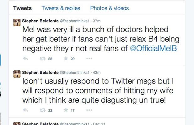 "Stephen Belafonte denies ""disgusting"" rumours about Mel B, 15 December 2014"