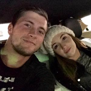 Dan Osborne and Jacqueline Jossa head home for Christmas together, Christmas Eve 2014