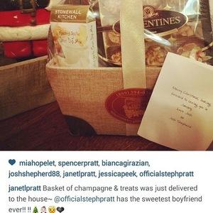 Josh Shepherd sends Christmas hamper to Stephanie Pratt's mum 22 December