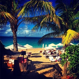 Lauren Frazer Hutton shares view in St Barths 22 December