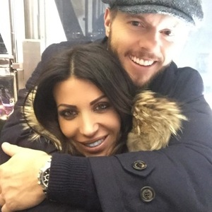 Cara Kilbey, Billi Mucklow and Andy Carroll visit Winter Wonderland, Hyde Park, London, 22 Dec 2014