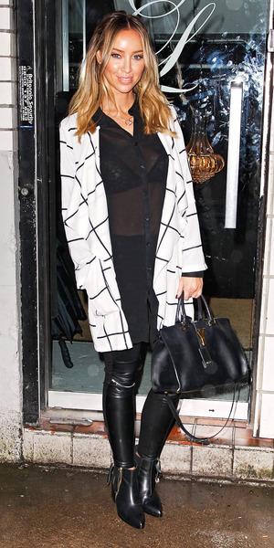 TOWIE's Lauren Pope stuns in coat from own range, 22 December 2014