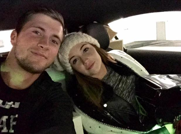 Dan Osborne and Jacqueline Jossa head home for Christmas together, Christmas Eve 2014