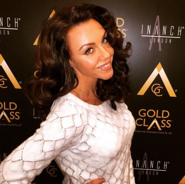 Michelle Heaton has her hair done for Christmas at Inach - 23 December 2014