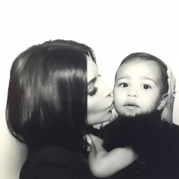 Kim Kardashian West shares family pics with Twitter followers, 27 December 2014