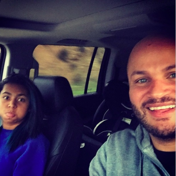 Stephen Belafonte and step-daughter Phoenix pictured on Christmas Day, 25 December 2014
