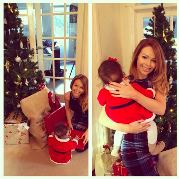 Katie Piper shares cute snap of herself and daughter Belle on Christmas Day 2014.
