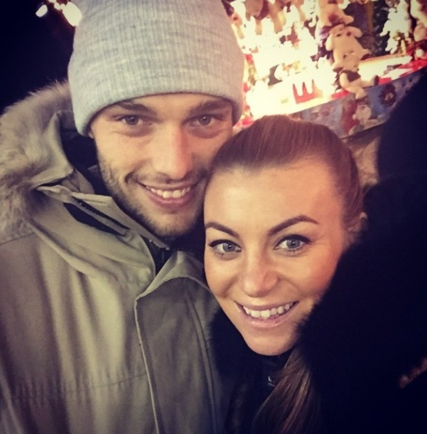 Billi Mucklow and Andy Carroll visit Winter Wonderland, Hyde Park, London, 22 Dec 2014